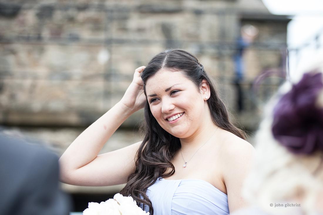 Sample wedding image from Edinburgh Castle and Apex Hotel Grassmarket, photographer John Gilchrist ref 20140906-0004