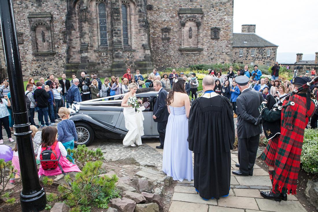 Sample wedding image from Edinburgh Castle and Apex Hotel Grassmarket, photographer John Gilchrist ref 20140906-0019