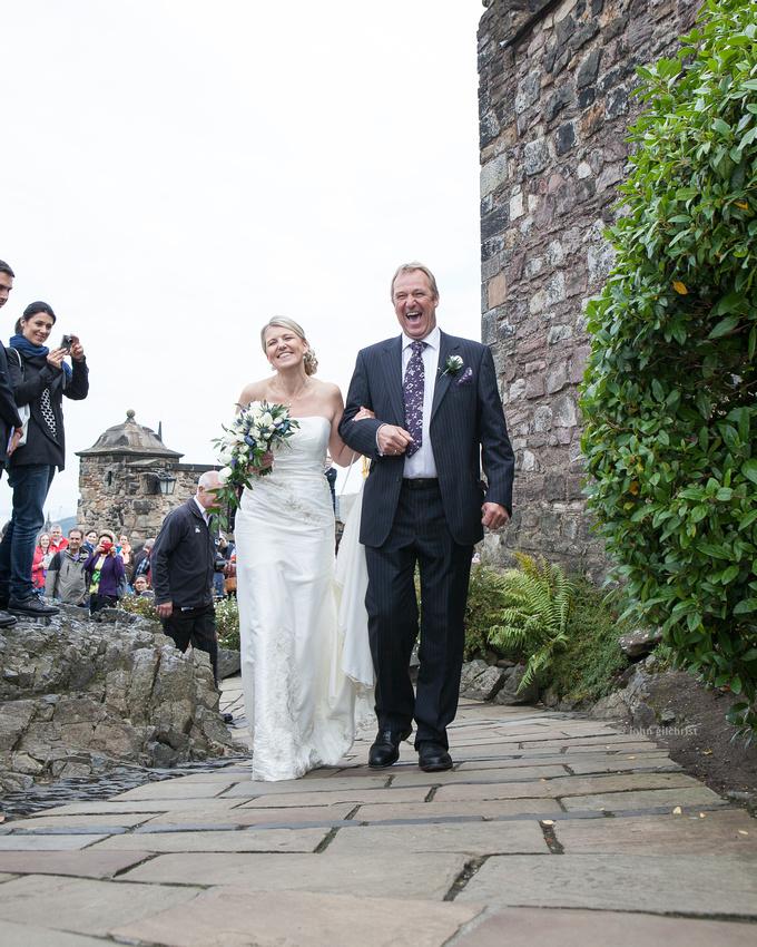 Sample wedding image from Edinburgh Castle and Apex Hotel Grassmarket, photographer John Gilchrist ref 20140906-0021