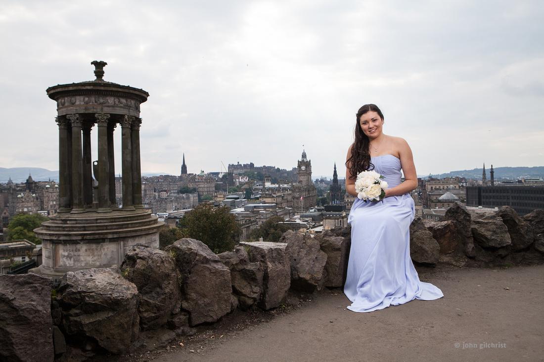 Sample wedding image from Edinburgh Castle and Apex Hotel Grassmarket, photographer John Gilchrist ref 20140906-0036
