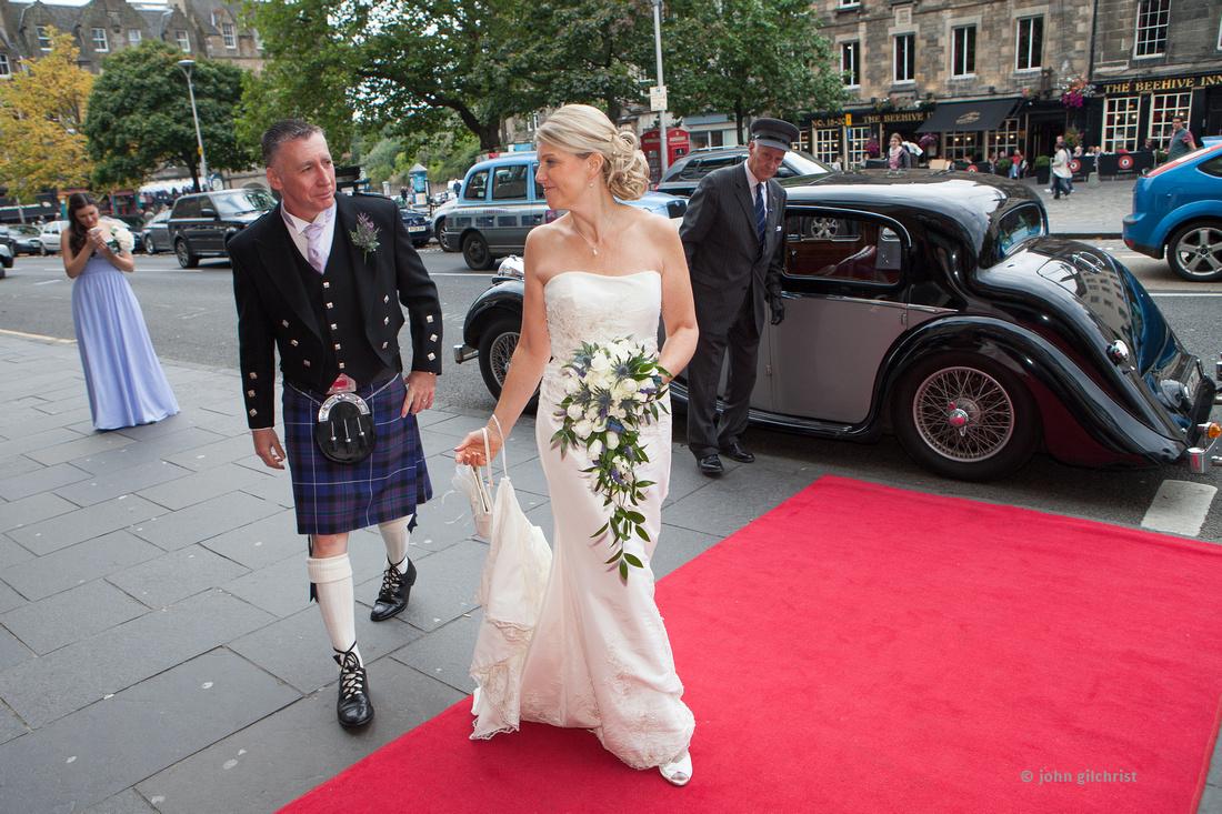 Sample wedding image from Edinburgh Castle and Apex Hotel Grassmarket, photographer John Gilchrist ref 20140906-0038