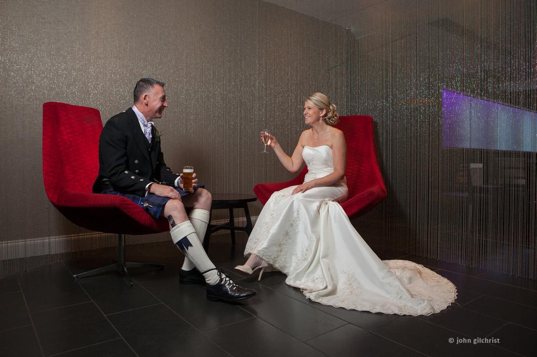 Sample wedding image from Edinburgh Castle and Apex Hotel Grassmarket, photographer John Gilchrist ref 20140906-0051
