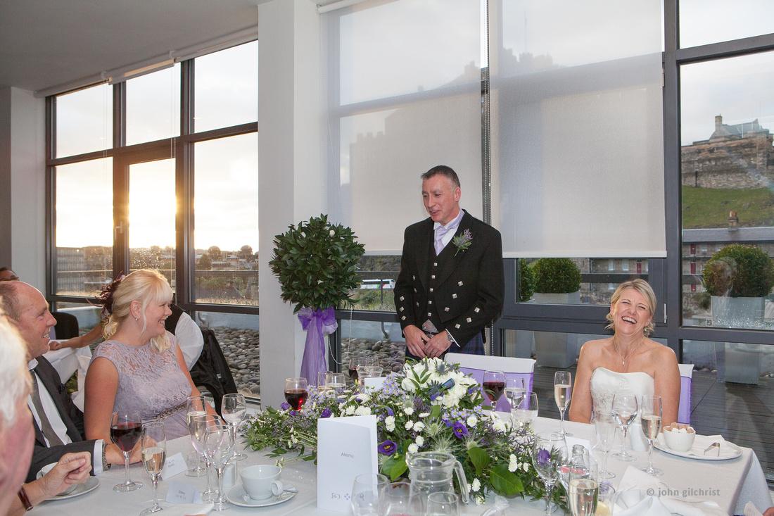 Sample wedding image from Edinburgh Castle and Apex Hotel Grassmarket, photographer John Gilchrist ref 20140906-0056