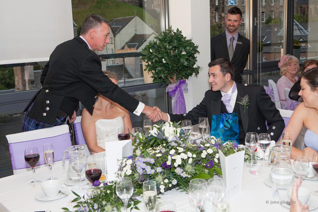 Sample wedding image from Edinburgh Castle and Apex Hotel Grassmarket, photographer John Gilchrist ref 20140906-0058