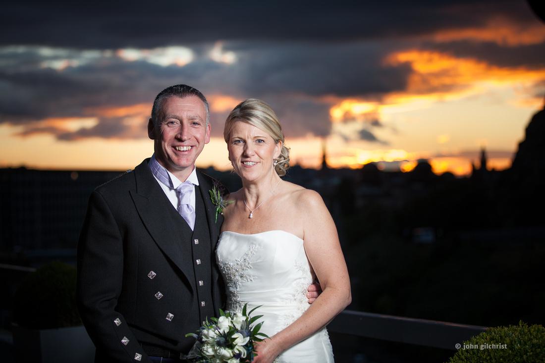 Sample wedding image from Edinburgh Castle and Apex Hotel Grassmarket, photographer John Gilchrist ref 20140906-0060