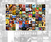 Music album art - collection of albums in a collage 0003