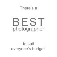 Best photographer to suit everyone's budget