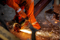 Metal - Cutting Steel | Construction photographer Scotland