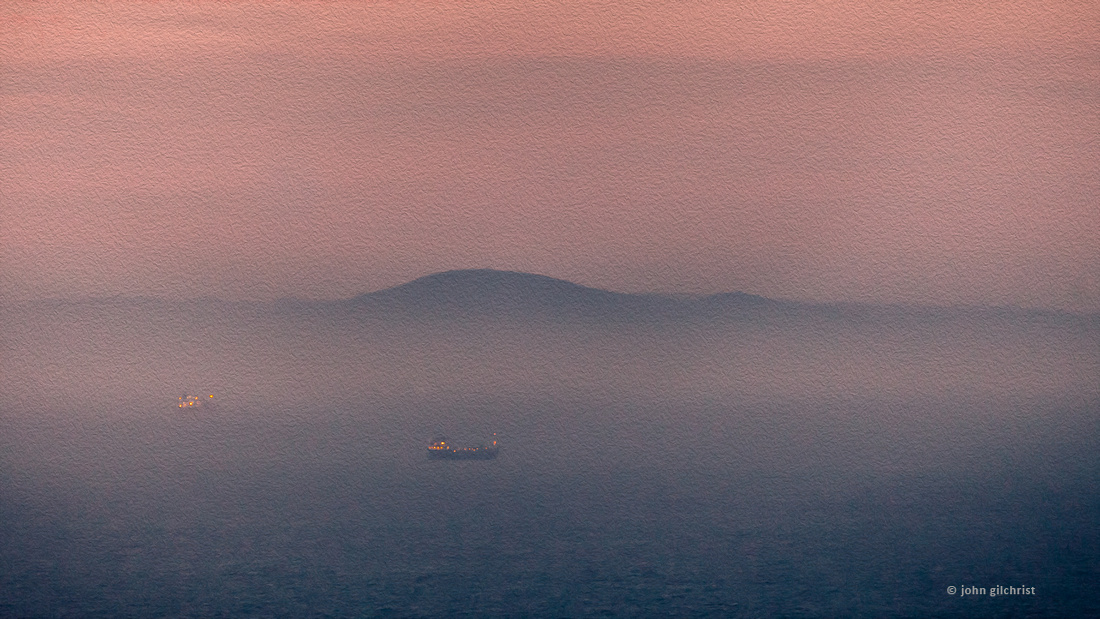 Art prints of ships in the Firth of Forth during fog.