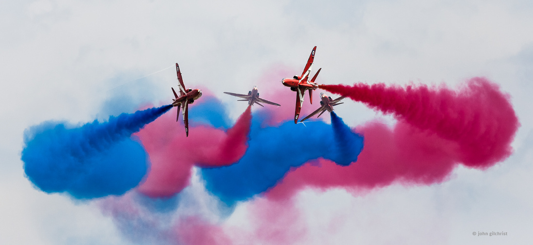 Aviation related, may contain aircraft, airline or airport references, reference, Red Arrows in Flight, aviation photography by John Gilchrist