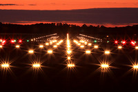 Edinburgh Airport, airfield ground lighting, runway guidance lights on rwy 06, 05 July 2009