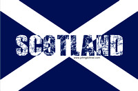 Mixed text and image graphic - Flag of Scotland