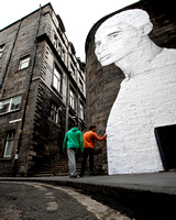 Walls Have Eyes, Edinburgh, City Street Scene - IMG-201204-0001