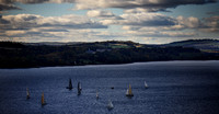 Sail Boats Viewed from the Forth Road Bridge Crossing