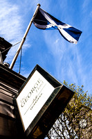 Saltire Flag outside the George Hotel | Top photography spots in Edinburgh | Edinburgh Locations