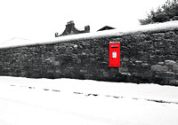 Personal photo gallery by Edinburgh based photographer photos of Red Post Box in Wall