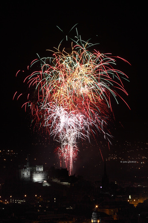 Edinburgh Castle Fireworks, Scenic View - IMG-20100905-0074