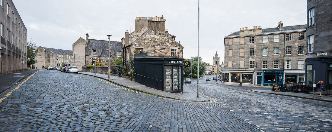Cobbled Streets of Edinburgh - Picture from Circus Place