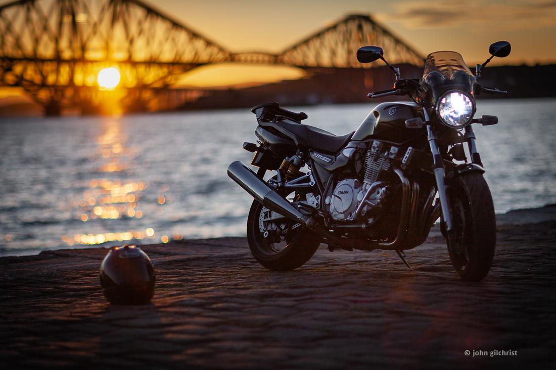Edinburgh Sunset Bridge Edinburgh Sundown Bridge YamahaXJR1300 IMG180706-0008