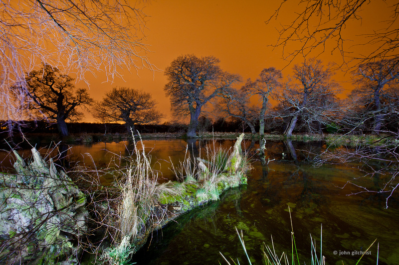 Personal photo gallery by Edinburgh based photographer photos of Dalkeith Estate at Night