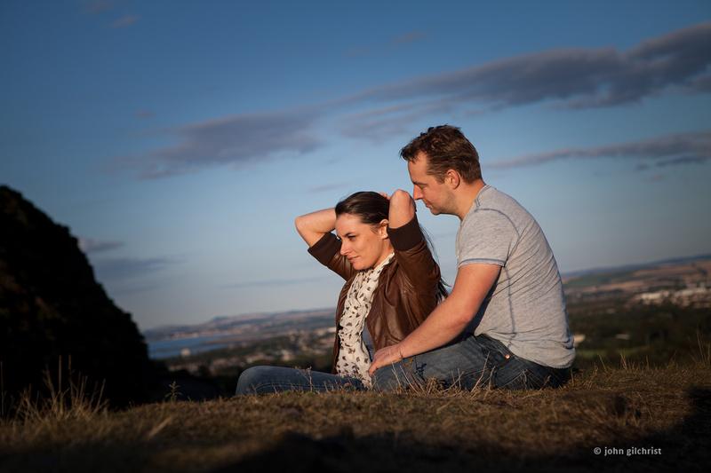 Engagement photography at Holyrood Park, Edinburgh pre-wedding photographer John Gilchrist D236Y14P157