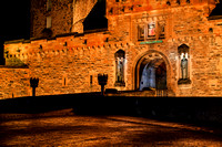 Orange façade - Edinburgh Castle entrance at night IMG0001JG20171215