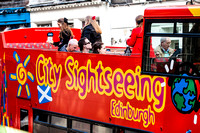 City Sightseeing, Edinburgh City Street Scene - UK-140319i1