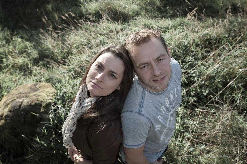 Engagement photography at Holyrood Park, Edinburgh pre-wedding photographer John Gilchrist D236Y14P111